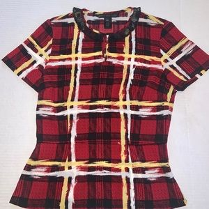 Marc by Marc Jacobs tartan plaid blouse.